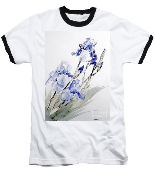 Blue Irises Baseball T-Shirt
