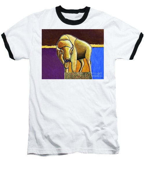 Baseball T-Shirt featuring the painting Buffalo 1 by Joseph J Stevens