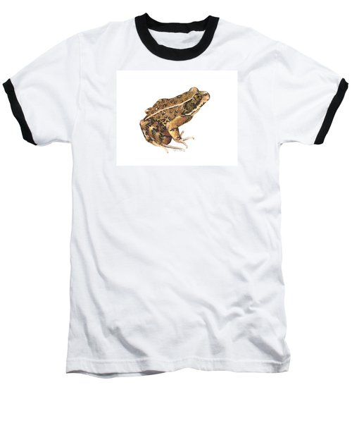 California Red-legged Frog Baseball T-Shirt by Cindy Hitchcock