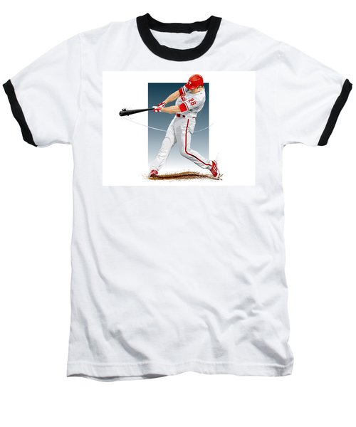 Chase Utley Baseball T-Shirt by Scott Weigner