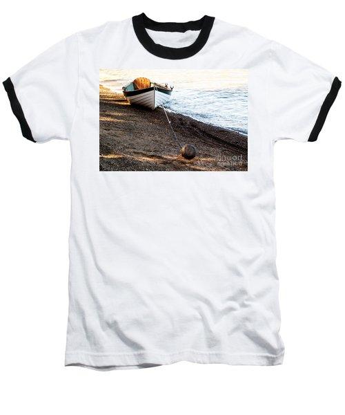 China Beach Rowboat Baseball T-Shirt by Roselynne Broussard