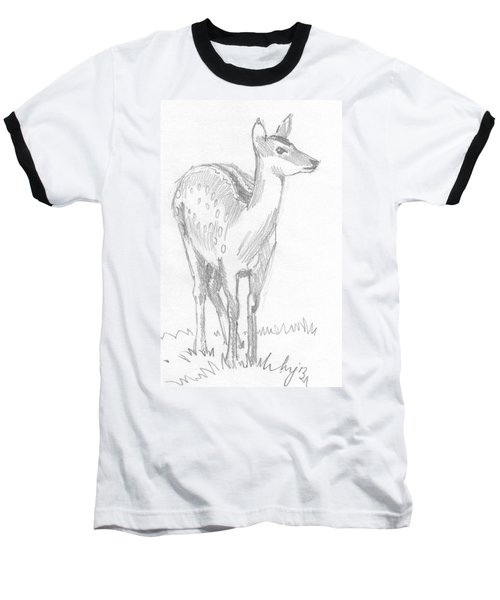 Deer Drawing  Baseball T-Shirt