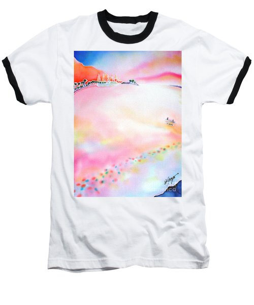 Baseball T-Shirt featuring the painting Evening Cruise by Hisayo Ohta