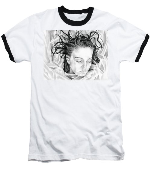 Forget Me Not - Laura Palmer - Twin Peaks Baseball T-Shirt by Fred Larucci
