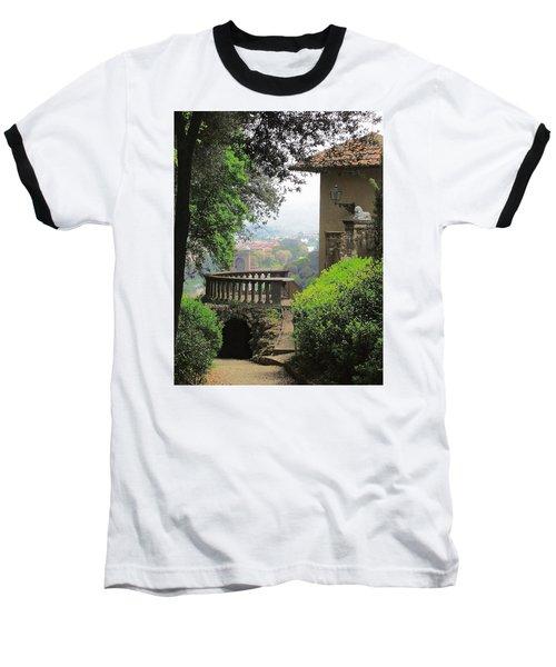 Garden View Baseball T-Shirt by Ellen Henneke