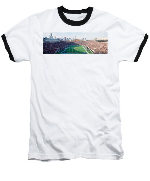 High Angle View Of Spectators Baseball T-Shirt by Panoramic Images
