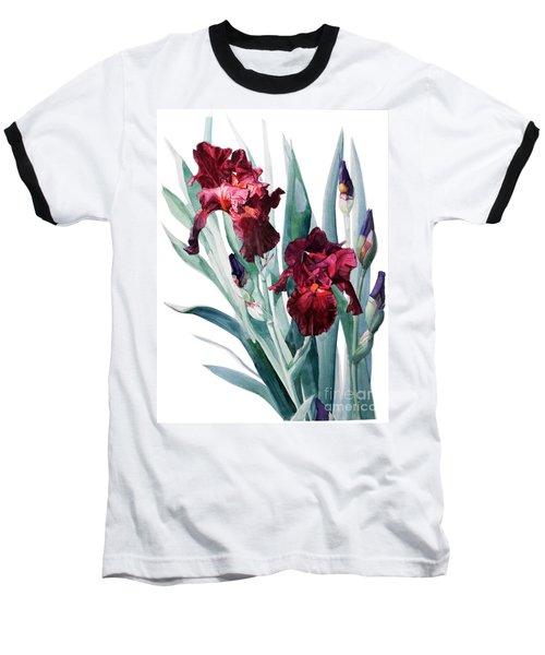 Dark Red Tall Bearded Iris Donatello Baseball T-Shirt