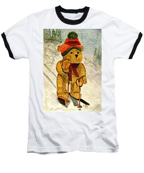 Learning To Ski Baseball T-Shirt