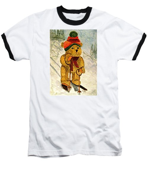 Learning To Ski Baseball T-Shirt