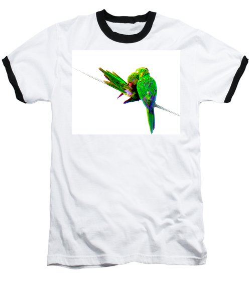 Baseball T-Shirt featuring the photograph Love Birds by J Anthony