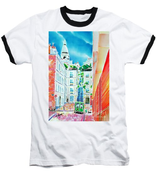 Baseball T-Shirt featuring the painting Passage Cottin by Hisayo Ohta