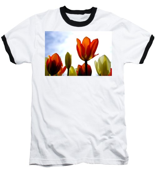Baseball T-Shirt featuring the photograph Reaching For The Sun by Marilyn Wilson
