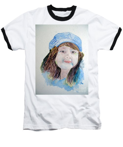 Sarah Baseball T-Shirt by Sandy McIntire