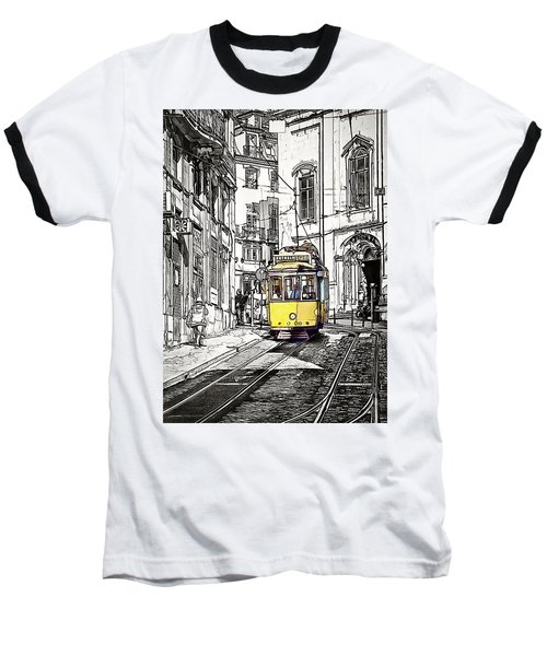 Lisbon Tram 28 Baseball T-Shirt