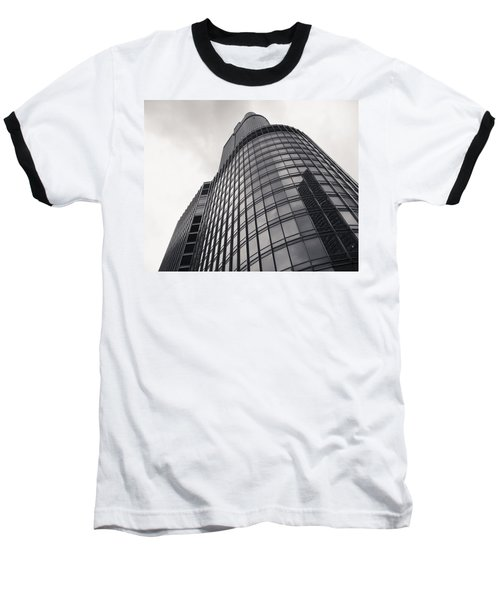 Trump Tower Chicago Baseball T-Shirt by Adam Romanowicz