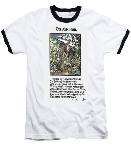 Baseball T-Shirt featuring the painting Vinegrower, 1568 by Granger