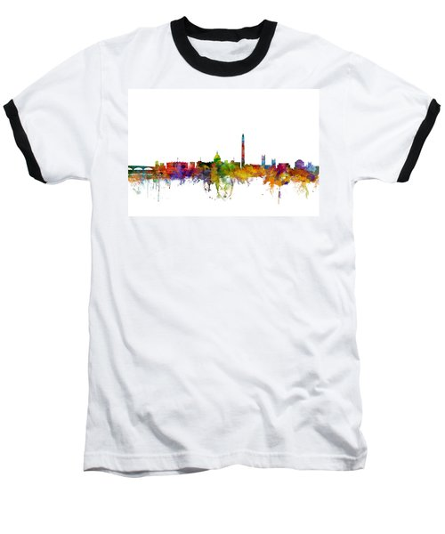 Washington Dc Skyline Baseball T-Shirt