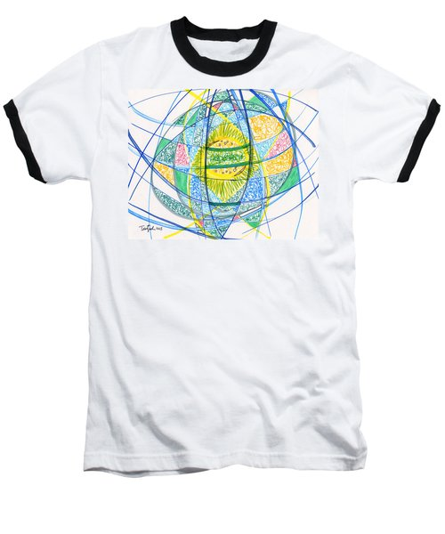 2013 Abstract Drawing #2 Baseball T-Shirt by Lynne Taetzsch