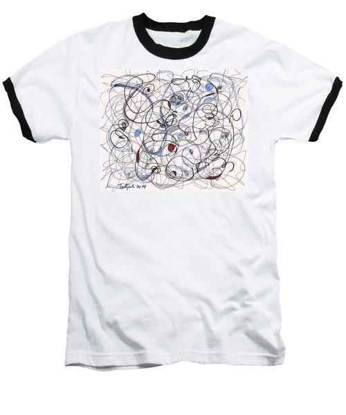 2014 Abstract Drawing #6 Baseball T-Shirt by Lynne Taetzsch
