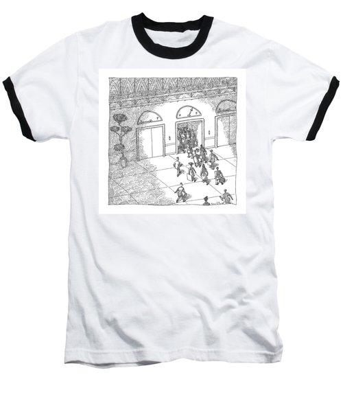 Gas-gauge Elevator Baseball T-Shirt