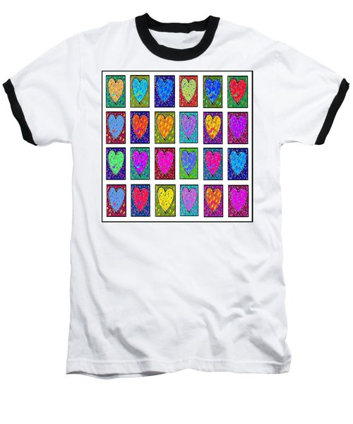24 Hearts In A Box Baseball T-Shirt