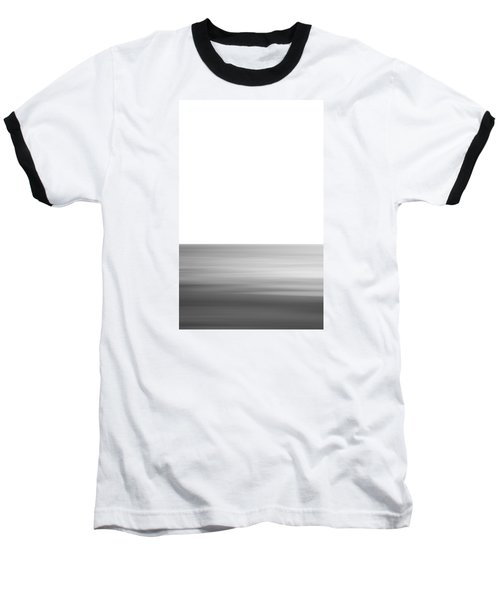 Black And White Abstract Seascape No. 02 Baseball T-Shirt