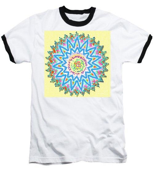 Colorful Signature Art Chakra Round Mandala By Navinjoshi At Fineartamerica.com Rare Fineart Images  Baseball T-Shirt by Navin Joshi