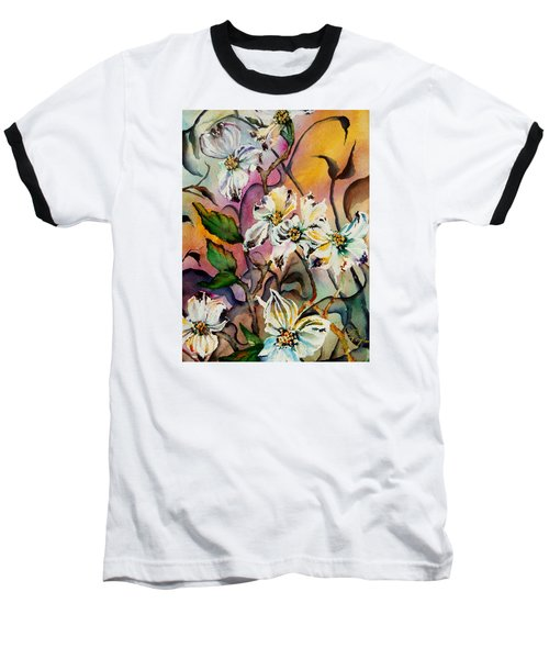 Dance Of The Dogwoods Baseball T-Shirt by Lil Taylor