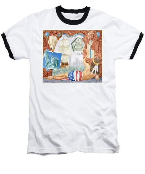 Destruction Of Native America Baseball T-Shirt