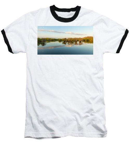 Reflection Of Trees In A Lake, Anhinga Baseball T-Shirt