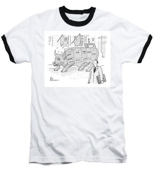 Wallstreet Bull Baseball T-Shirt