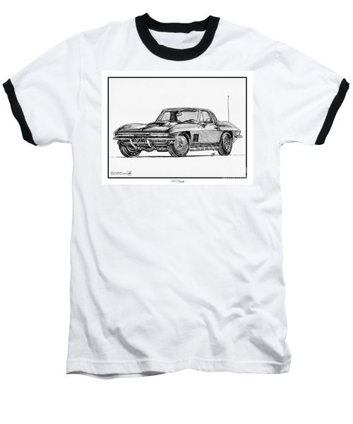 1967 Corvette Baseball T-Shirt