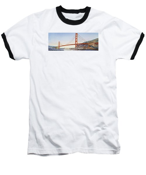 Golden Gate Bridge San Francisco Baseball T-Shirt