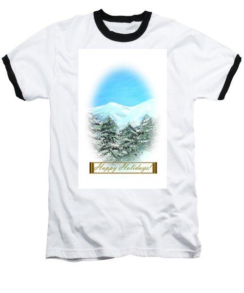 Happy Holidays. Best Christmas Gift Baseball T-Shirt by Oksana Semenchenko