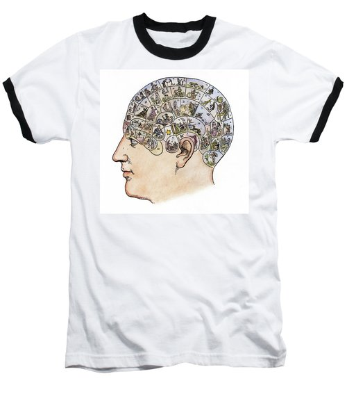 Baseball T-Shirt featuring the painting Phrenology, 19th Century by Granger