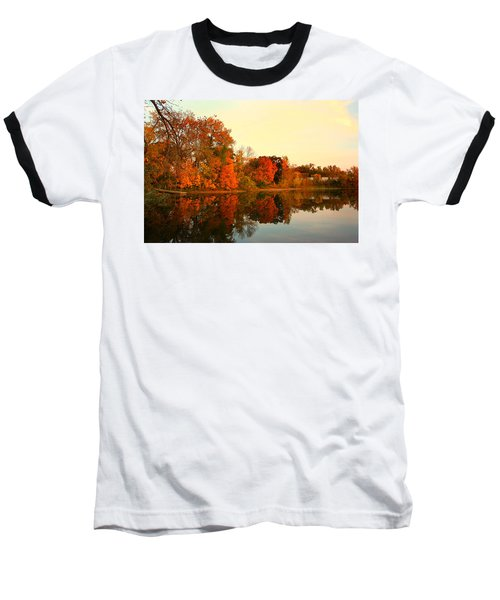 Shady Oak Lake  Baseball T-Shirt by Amanda Stadther