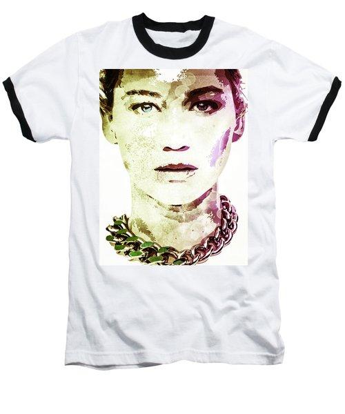 Jennifer Lawrence Baseball T-Shirt by Svelby Art