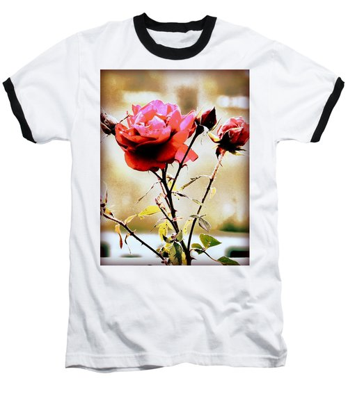 Baseball T-Shirt featuring the photograph 40 Something by Faith Williams
