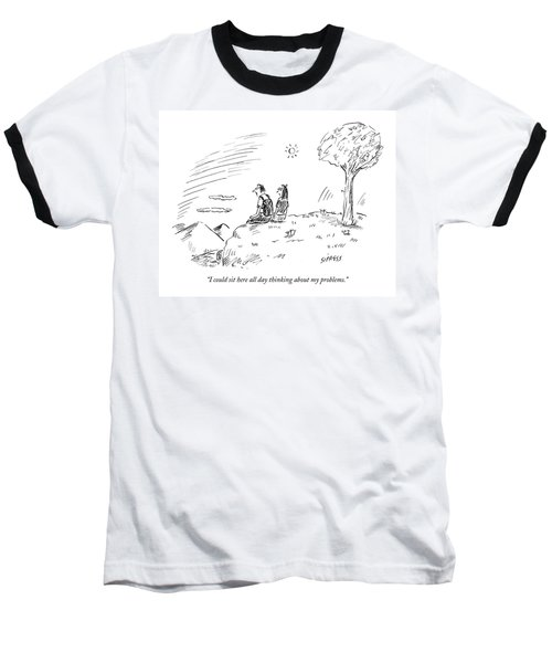I Could Sit Here All Day Thinking Baseball T-Shirt