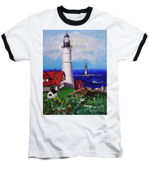 Lighthouse Hill Baseball T-Shirt by Linda Simon