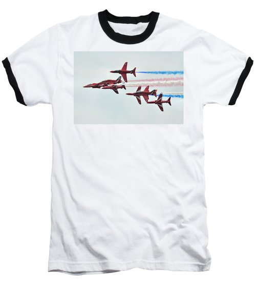 50th Anniversary 'red Arrows' Baseball T-Shirt by Tim Beach