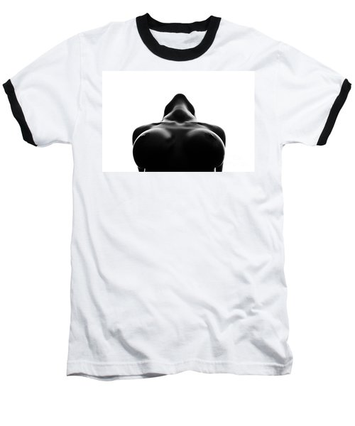 Black And White Nude Baseball T-Shirt