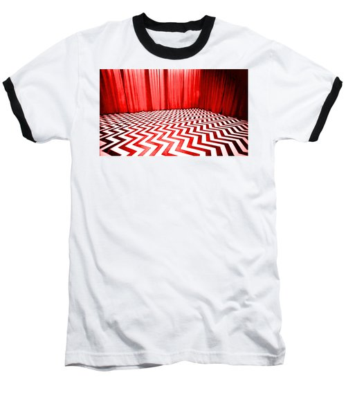 Baseball T-Shirt featuring the painting Black Lodge by Luis Ludzska