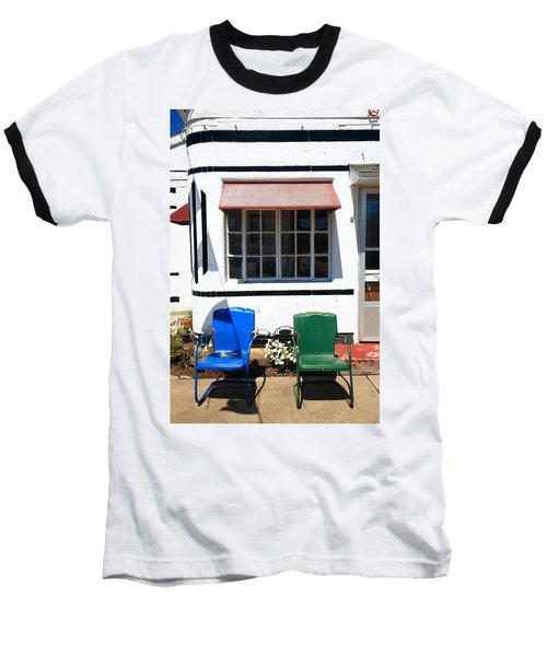 Route 66 - Boots Motel Baseball T-Shirt