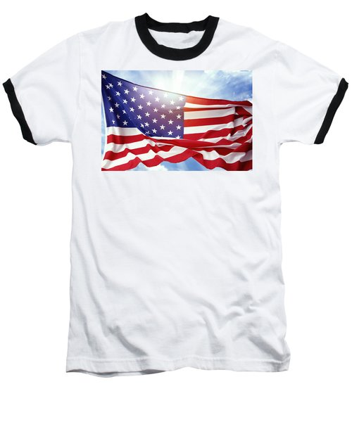 American Flag 55 Baseball T-Shirt