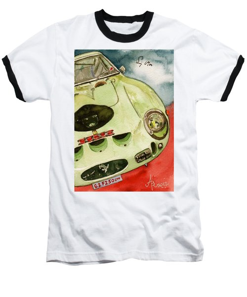 62 Ferrari 250 Gto Signed By Sir Stirling Moss Baseball T-Shirt