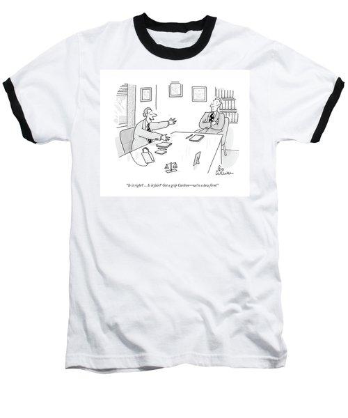 'is It Right? ... Is It Fair?' Get A Grip Carlton Baseball T-Shirt