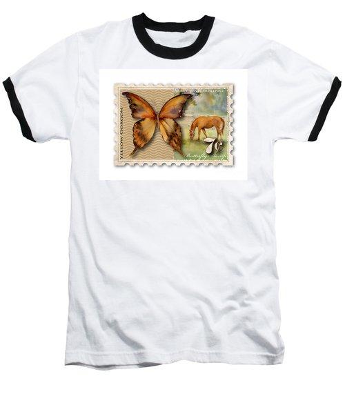 7 Cent Butterfly Stamp Baseball T-Shirt