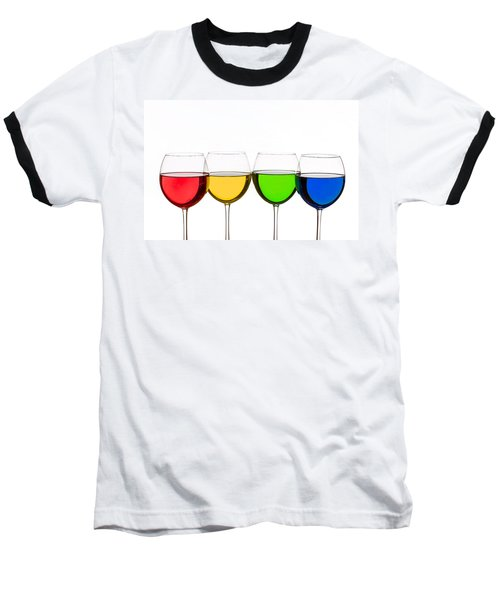 Colorful Wine Glasses Baseball T-Shirt