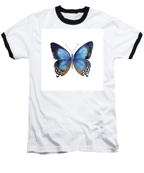 80 Imperial Blue Butterfly Baseball T-Shirt